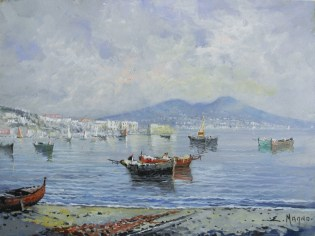 Eugenio Magno - Napoli da Mergellina