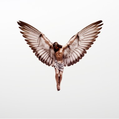Jesus with wings
