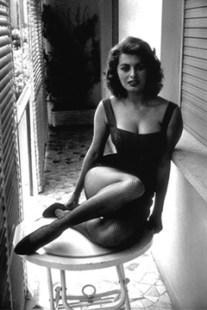 Sophia Loren at home. Naples (1955)