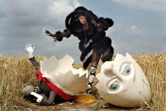 Where troubles melt like lemon drops – W Mgazine – October 2010 - Model Karlie Kloss – styling Jacob K – photography: Tim Walker. Set and prop design : Simon Costin