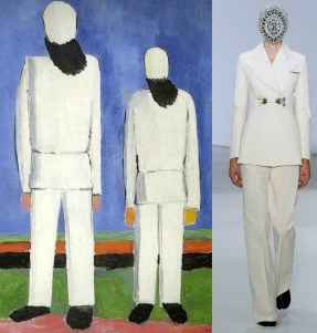Kazimir Malevich, Two Male Figures, 1932 and Maison Martin Margiela Artisanal A:W 2012