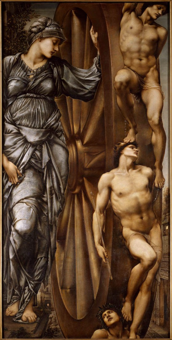Sir Edward Burne-Jones, La Roue de la Fortune, 1875-1883