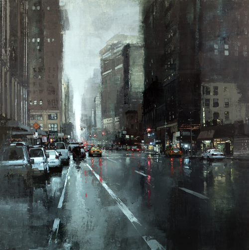 New York Rains - Jeremy Mann