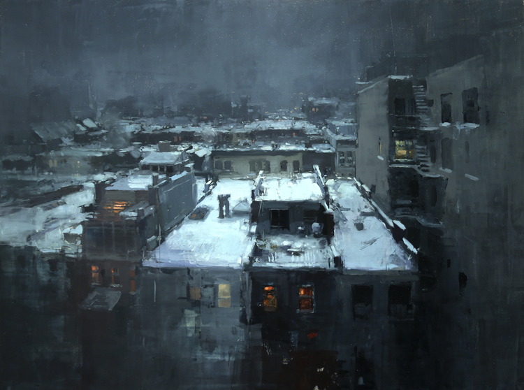Rooftops in the Snow - Jeremy Mann