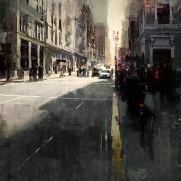 Sunset by Union Square - Jeremy Mann