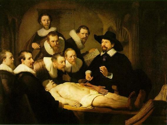 Lezione di anatomia del dottor Nicolaes Tulp - Rembrandt
