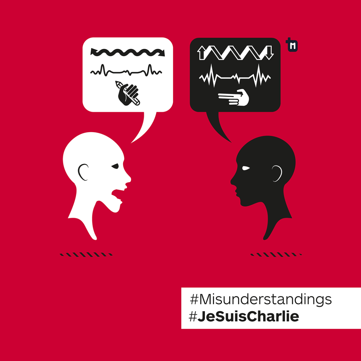 Je Suis Charlie / Misunderstandings - Illustrazione di Micol Salomone