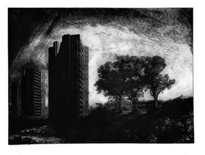 Cyprien Gaillard, Belief in the Age of Disbelief, Paysage aux trois tours - 2005