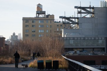 The north side of the building as seen from the High Line, December 2014. Photograph by Timothy Schenck