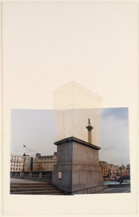Rachel Whiteread Trafalgar Square Project 1998 Collage fotografico e acrilico su tavola 19 11/16 x 12 3/8 inches 50 x 31.5 cm © Rachel Whiteread. Per gentile concessione dell'artista e Gagosian Gallery