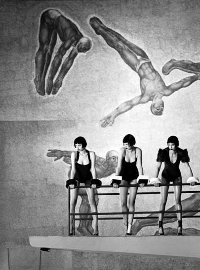 Ciclo di immagini realizzate all'interno della Piscina del Foro Italico a Roma - Giovanni Gastel