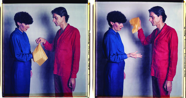 Marina Abramovic&Ulay, Marina Abramovic e Ulay, 1946_1943, Untitled, dalla serie Gold found by the artists, 1981, Fotografia a colori, dittico, Collezione privata Dionisio Gavagnin, Treviso