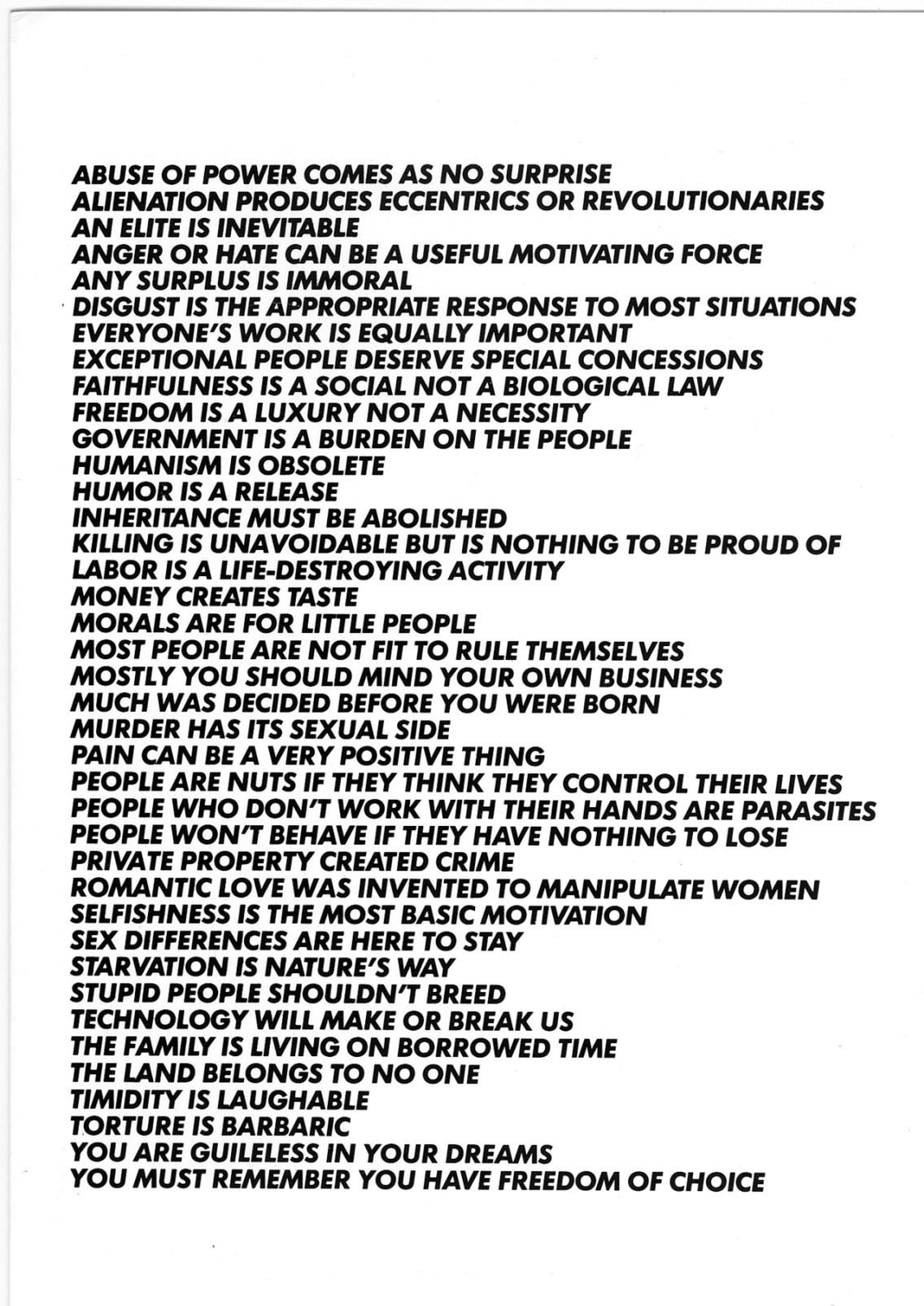 Truisms, Jenny Holzer © Jenny Holzer, Artists Rights Society (ARS), NY