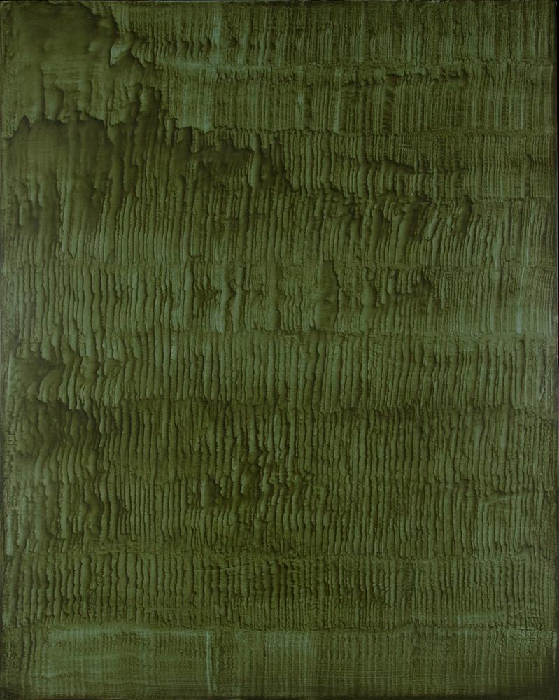 Giuseppe Adamo, Sulcus #3, 2016. Acrilico su tela, 100x80