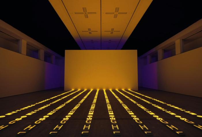 Show at Hauser & Wirth Somerset © Jenny Holzer, Artists Rights Society (ARS), NY