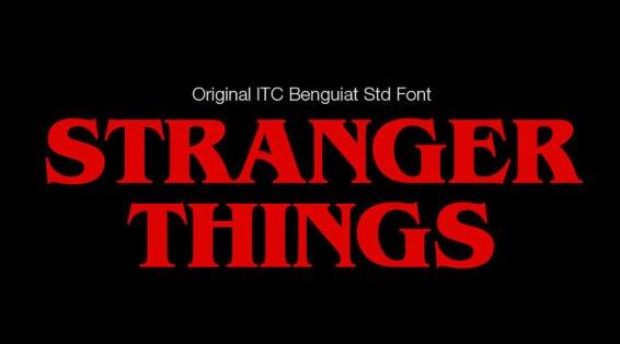 stranger things logo original