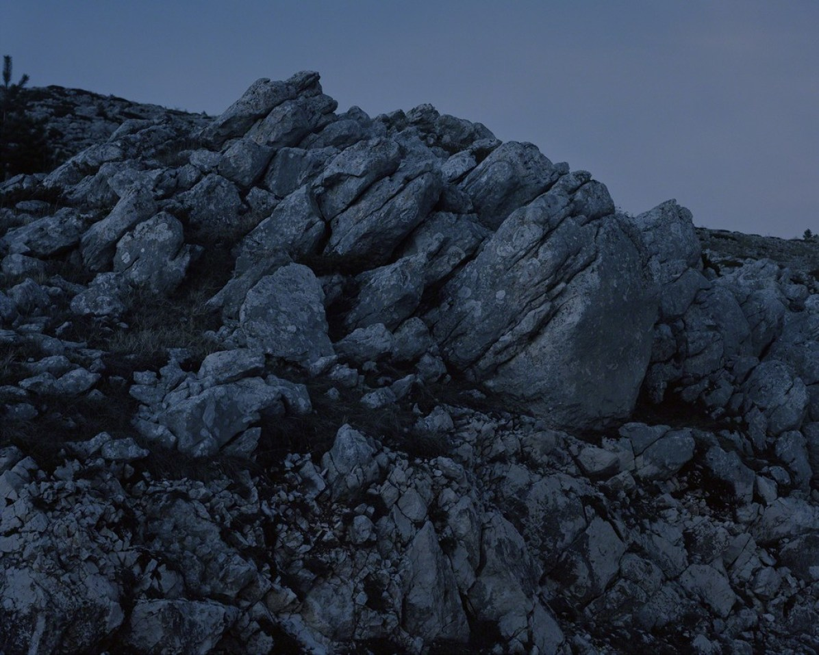 Dolostone outcrop in the Campo Imperatore plateau, Gran Sasso and Monti della Laga National Park, Abruzzo, Italy, 2015 From the series An investigation of the laws observable in the composition, dissolution, and restoration of land © Fabio Barile