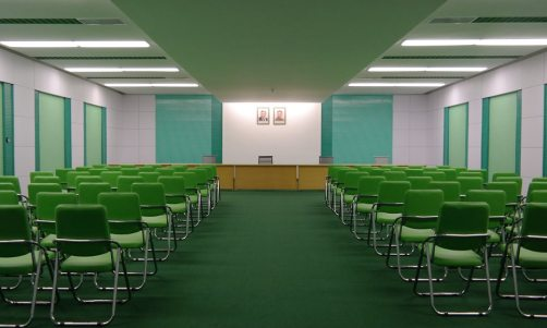 This North Korean conference room