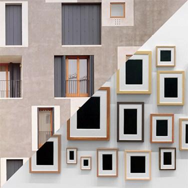 Cino Zucchi, Edificio residenziale D area ex-Junghans, Venezia, 1997-2002 VS Allan McCollum, Plasted Surrogates, 1985 – © Davide Trabucco, Confórmi