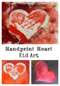 Arty Crafty Kids -Handprint Heart Kid Art
