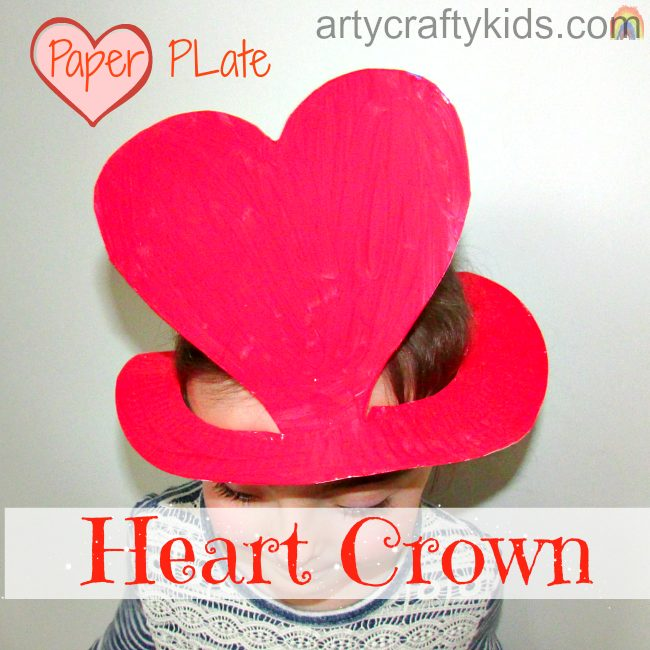 heart paper plate craft paper plate crown arty crafty 4654