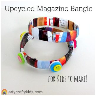 Arty Crafty Kids - Craft - Upcycled Magazine Bangle