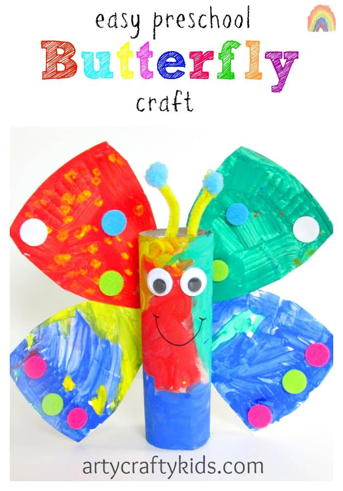Easy preschool butterfly craft for Art and craft books for kids