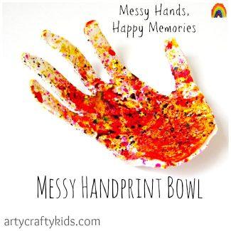 Arty Crafty Kids - Messy Handprint Bowl