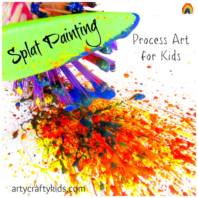 Arty Crafty Kids - Splat Painting