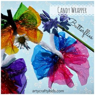 Arty Crafty Kids - Candy Wrapper Butterflies