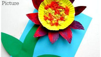 3d tissue paper flower arty crafty kids paper plate flower mightylinksfo Choice Image