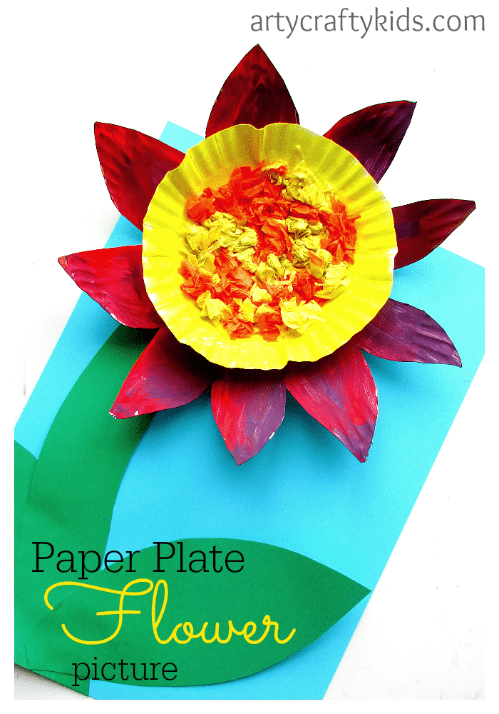 Paper plate flower crafts for preschoolers yelomphonecompany paper plate flower mightylinksfo