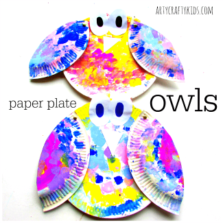 Arty Crafty Kids - Craft - Craft for Kids - Paper Plate Owl