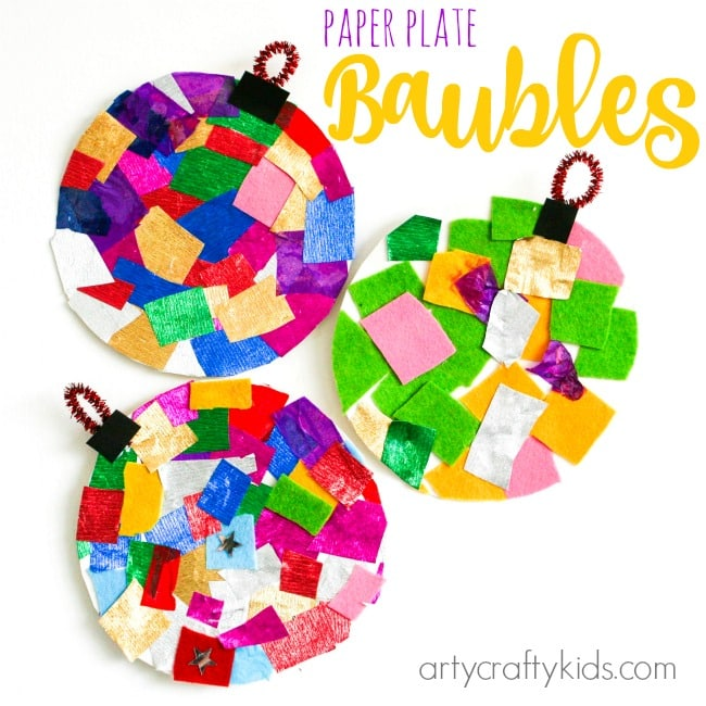 Arty Crafty Kids - Craft - Christmas Craft Ideas for Kids - Paper Plate Bauble