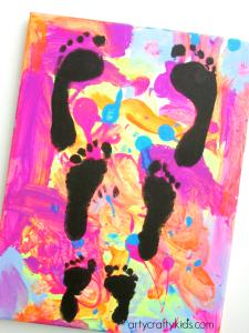Arty Crafty Kids - Art - Art Ideas for Kids - Footprint Canvas