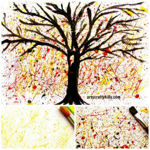 Arty Crafty Kids - Art - Art Ideas for Kids - Autumn Splatter Tree