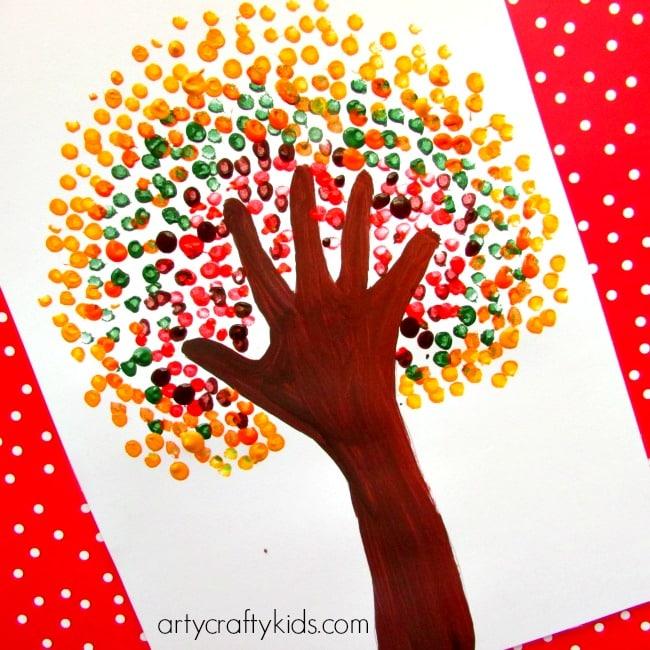 Autumn Handprint Tree