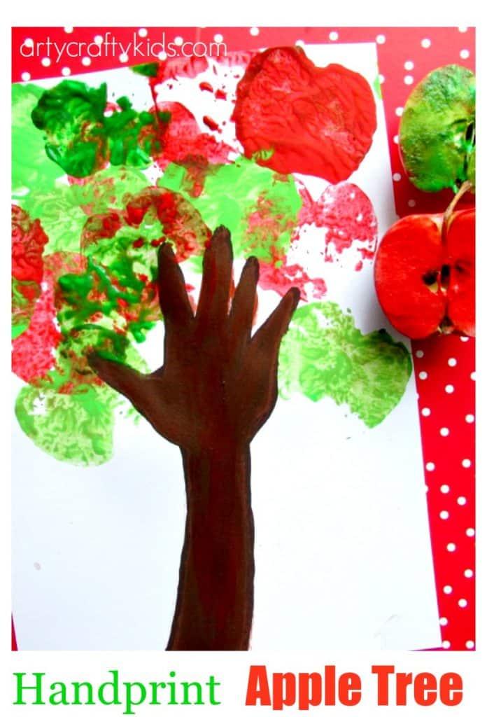 Handprint Apple Tree Arty Crafty Kids