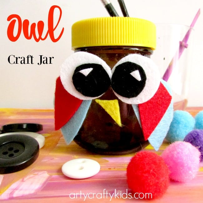 Owl Craft Ideas For Kids Part - 23: Arty Crafty Kids - Craft - Craft Ideas For Kids - Owl Craft Jar