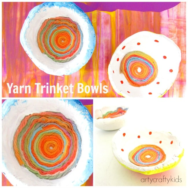 Messy Cups Plates: Yarn Trinket Bowls
