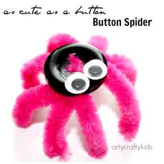 Arty Crafty Kids - Craft - Button Spider Easy Kid Craft