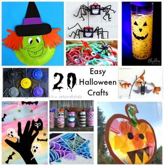 Arty Crafty Kids - Craft - Craft Ideas for Kids - 20 Easy Halloween Crafts