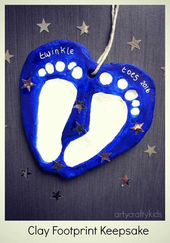 Arty Crafty Kids - Craft - Baby Footprint Keepsake - Clay Footprint Keepsake Craft