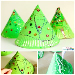 Cute, simple and perfect for toddlers and preschoolers! this simple 3d Paper Plate Christmas Tree craft is perfect for developing fine motor skills while getting into the festive spirit! An easy Christmas craft for preschool or group craft sessions.