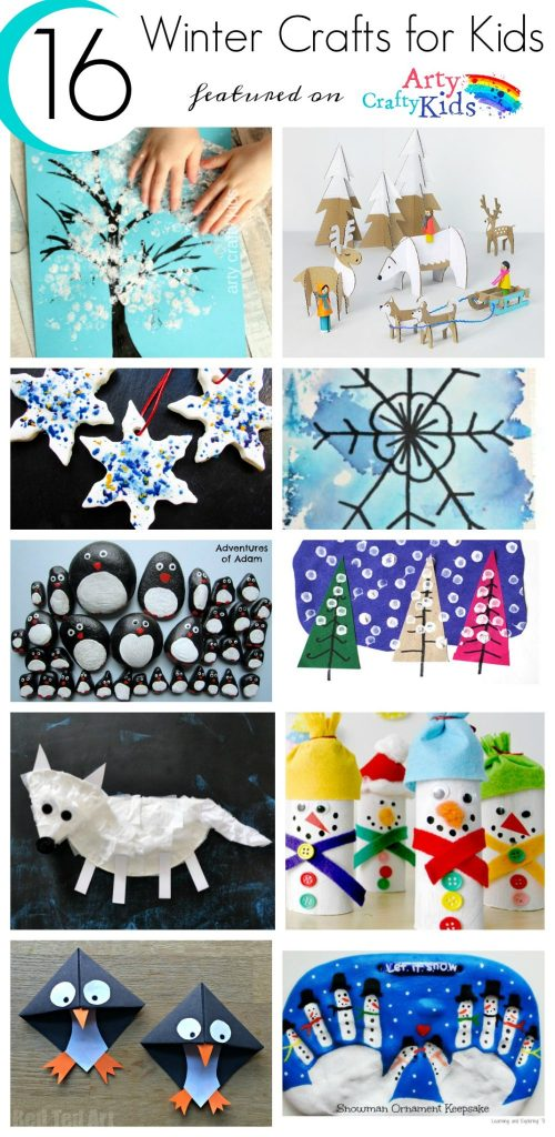 Easy Winter Kids Crafts That Anyone Can Make: 16 Easy Winter Crafts For Kids