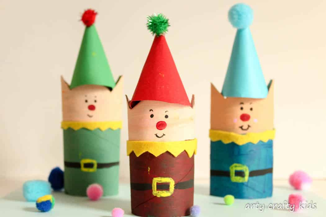 Cardboard Tube Christmas Elf Craft Arty Crafty Kids