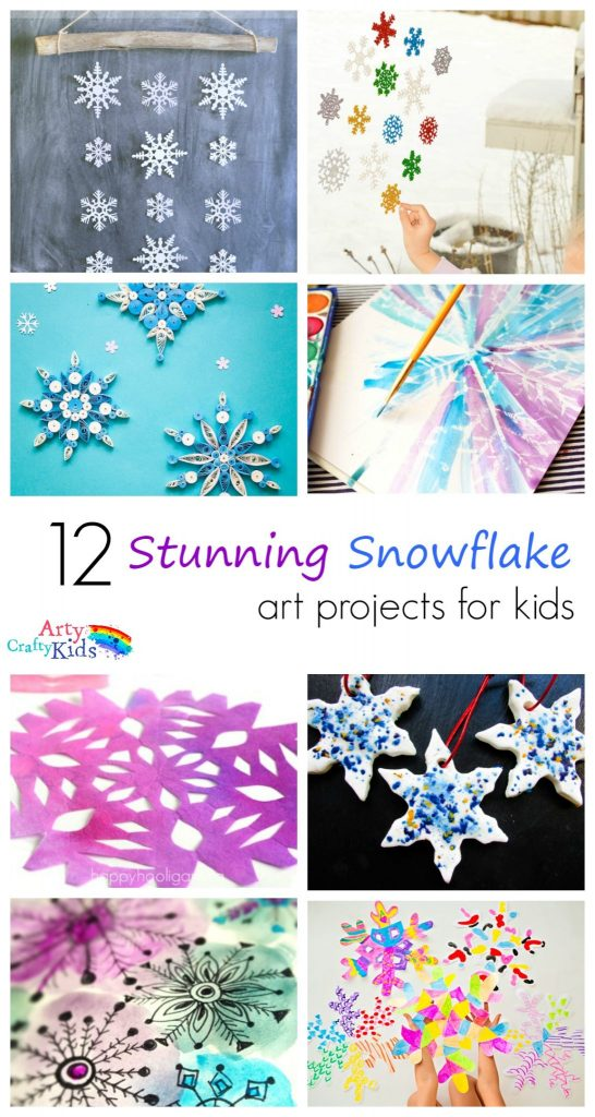 Arty Crafty Kids | Art | 12 Stunning Arty Crafty Snowflakes