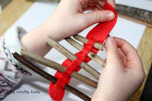 Arty Crafty Kids | Seasonal | Christmas Nature Craft | Rustic Twig Ornament | Our rustic Twig Christmas Tree Ornament is kid-made and inspired by Julia Donaldson's Stick Man. An easy Christmas craft for kids, that's great fine motor practice.