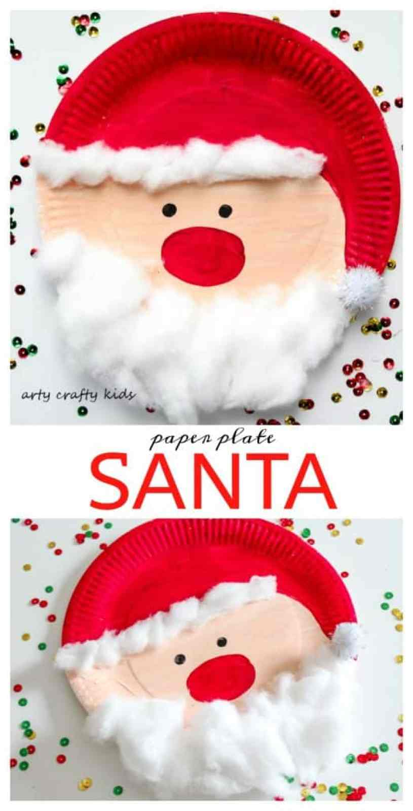 arty crafty kids seasonal easy chrsitmas craft paper plate santa super cute - Santa Claus Craft