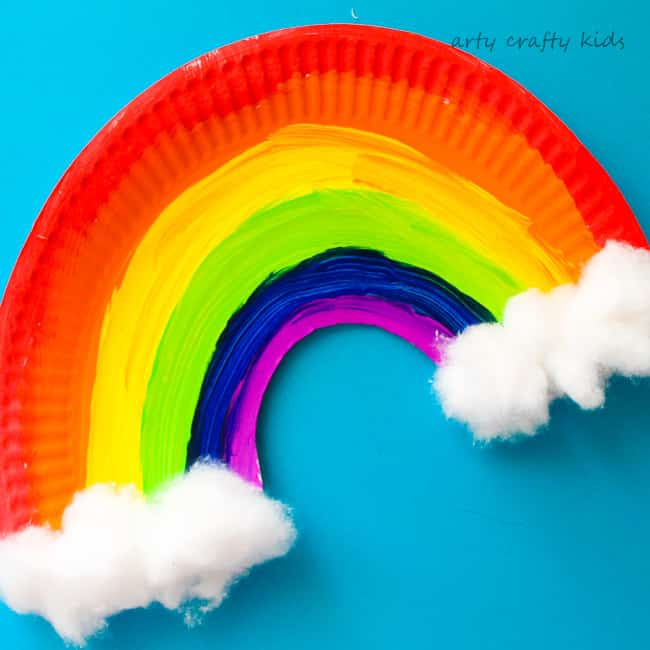 Arty Crafty Kids   Craft   Easy Paper Plate Rainbow Craft   A simple paper plate & Easy Paper Plate Rainbow Craft - Arty Crafty Kids